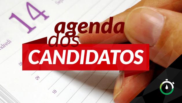 Confira a agenda dos candidatos ao Governo do Estado para esta quinta-feira