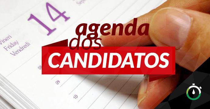 Confira a agenda dos candidatos ao Governo do Estado para esta segunda-feira