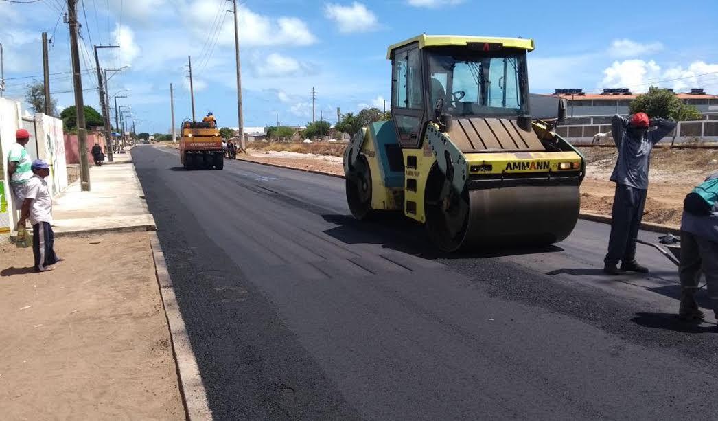 DER conclui obras de pavimentação em Jacaré até fevereiro