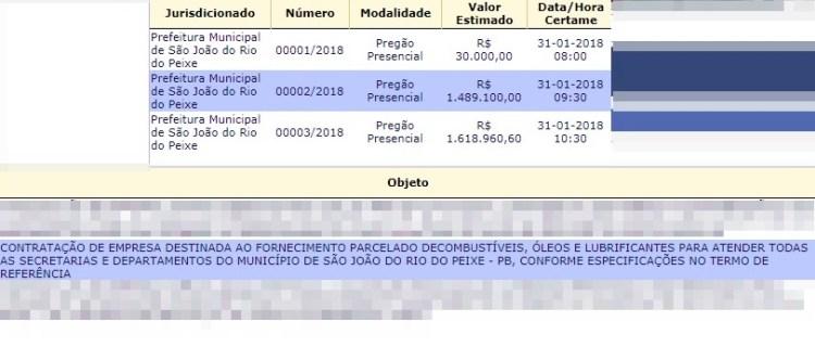 Prefeitura do Sertão abre pregão para gastar quase R$ 1,5 mi com gasolina