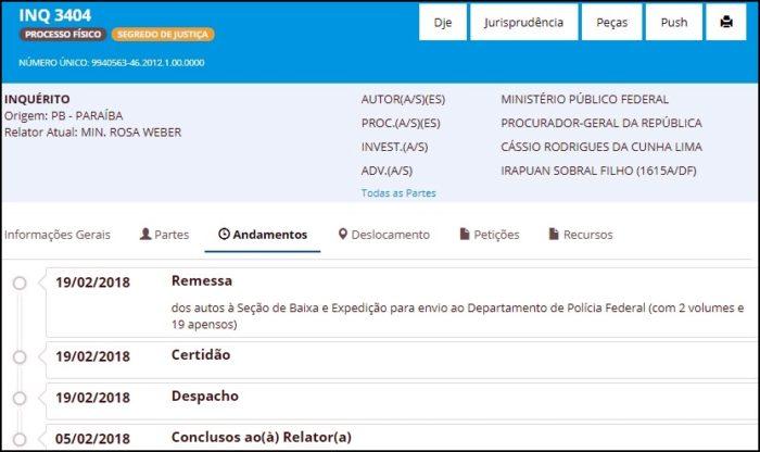 Dinheiro Voador: Inquérito que investiga Cássio volta à Polícia Federal para novas diligências