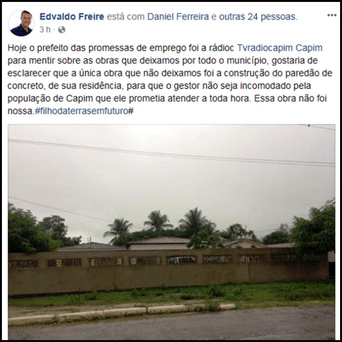 """Prefeito paraibano é acusado de erguer """"paredão"""" em frente de casa para evitar população"""