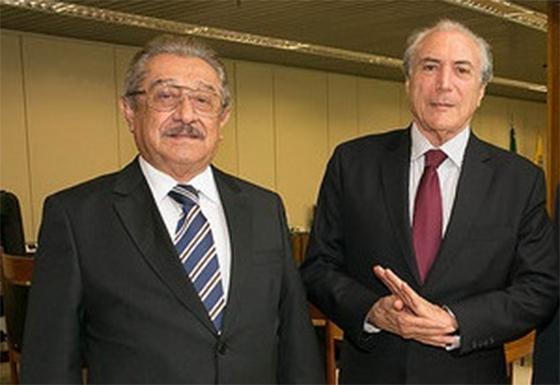 Após encontro com Manoel Jr, Temer liga para Maranhão e endossa pré-candidatura de senador