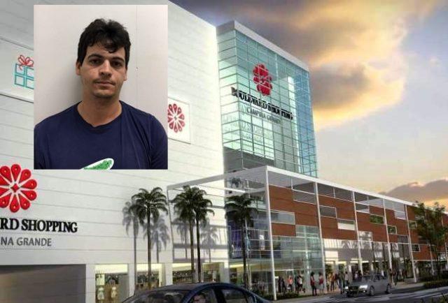 Suspeito de assaltar banco em shopping de CG é lotado no gabinete do prefeito Romero