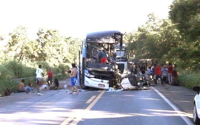 Sobe para nove número de mortos em acidente com ônibus da PB em Goiás