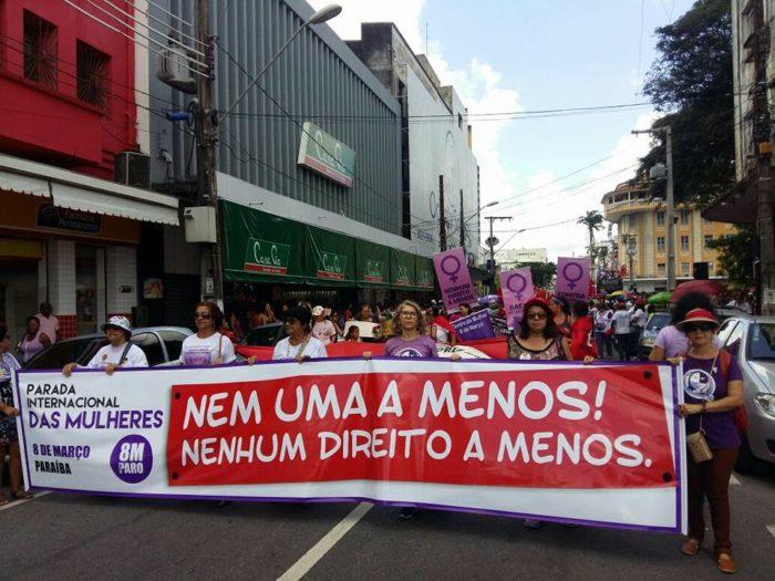 Paraibanas da cidade e do campo vão às ruas no 8 de março para lutar por democracia e direitos