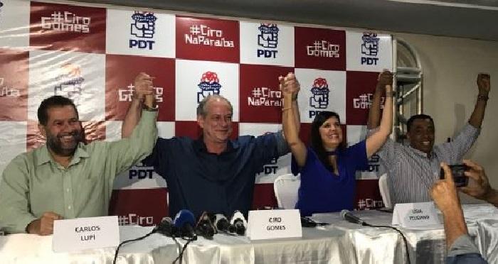 Carlos Lupi anuncia rompimento do PDT com o PSB e afirma que Lígia vai disputar o Governo