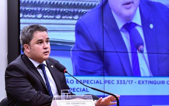 Efraim Filho é eleito relator da PEC do Foro Privilegiado e fala em marco histórico para o parlamento