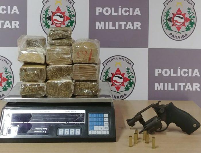 Polícia apreende 6 kg de maconha e arma em residência no Valentina