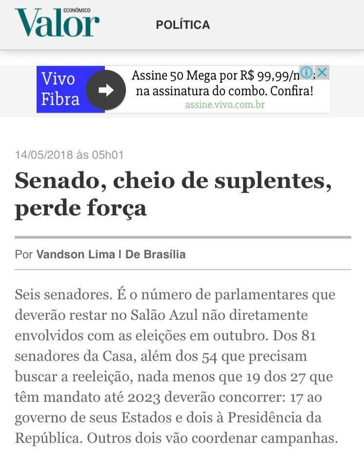 """Mídia nacional lista Lira entre os empresários """"sem votos"""" que chegaram ao Senado por serem afortunados"""