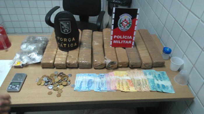 Polícia apreende mais de 10 quilos de maconha em operação na Capital