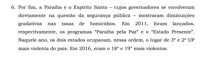 Fórum Brasileiro de Segurança destaca envolvimento de RC na redução da violência na PB