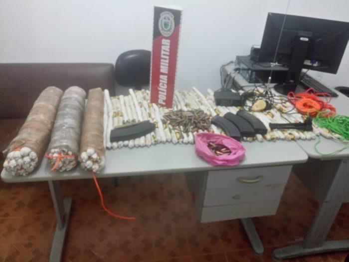 Após tentativa frustrada de roubar carro-forte na PB, criminosos deixam explosivos pra trás
