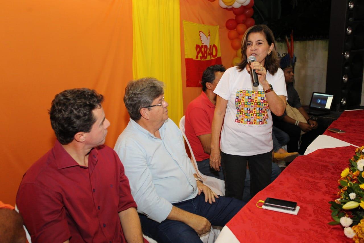 Prefeita de Mamanguape ratifica apoio a João e anuncia voto em Veneziano para o Senado