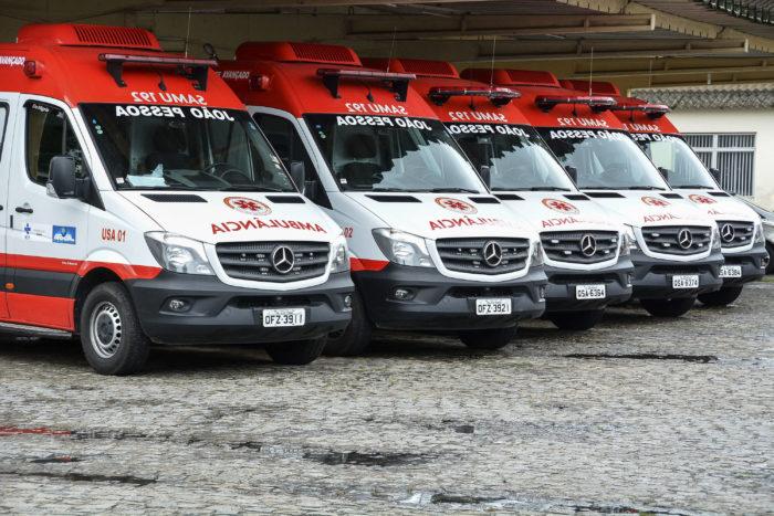 Samu-JP recebe cinco novas ambulâncias para atender Capital e Região Metropolitana