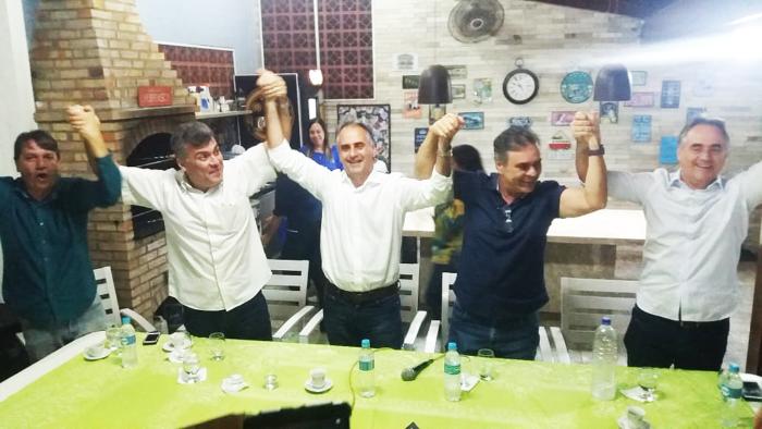Ao lado de Lucélio, Luciano e Cássio, Marco Antonio lança pré-candidatura a deputado federal