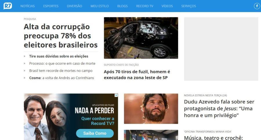Instituto busca publicar no R7 pesquisa não divulgada pelo Correio sobre sucessão na PB