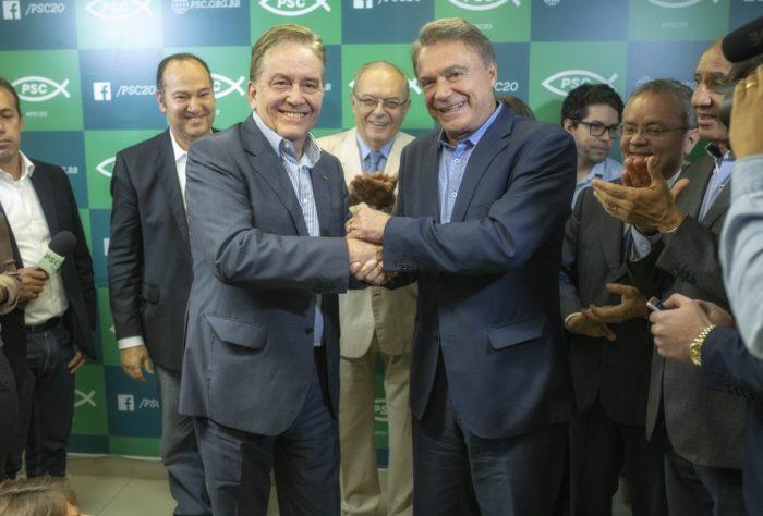 Em reunião com Marcondes Gadelha, PSC anuncia vice na chapa de Álvaro Dias, do Podemos
