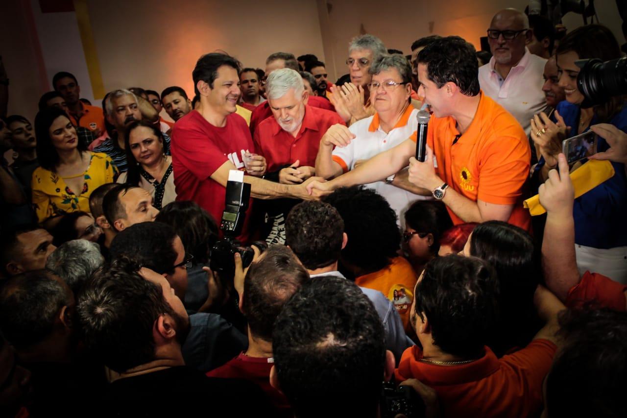 Em Campina, vice de Lula diz que desejo do petista é eleger João Azevêdo, Veneziano e Luiz Couto na PB