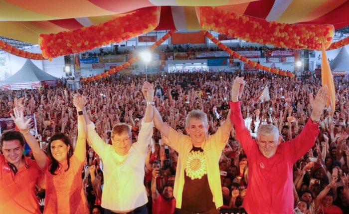 Reunindo 15 mil pessoas, convenção do PSB oficializa candidaturas de João, Lígia, Veneziano e Luiz Couto