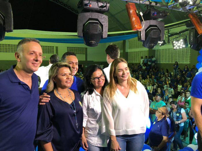 Aguinaldo Ribeiro dá largada na campanha e participa do lançamento da candidatura de Jane Panta