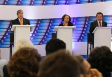 """Debate TV Master: João quer ampliar Empreender; Lucélio """"padrão JP"""" na PB e Zé mudanças no Trauma"""