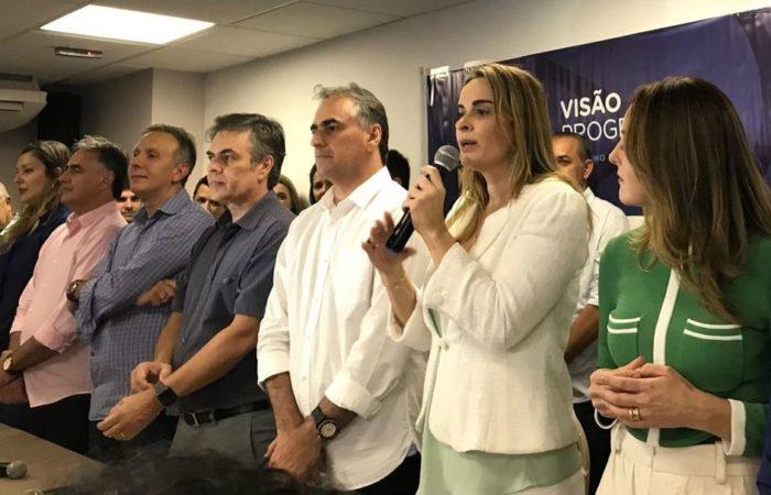 Durante coletiva, Progressistas oficializa apoio ao PV e Daniella na majoritária de Lucélio