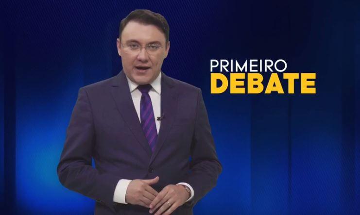 Candidatos a governador ficam cara a cara durante 1º debate, na TV Arapuan
