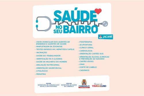 Projeto leva serviços e orientações de saúde itinerantes a bairros de Cabedelo