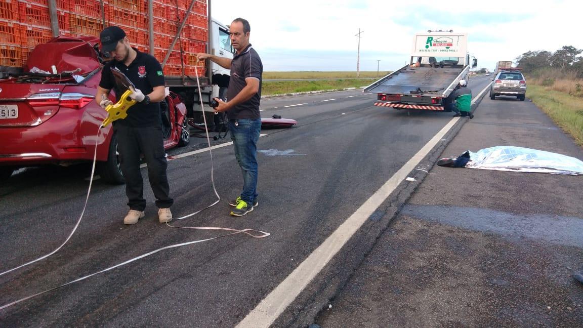 Presidente da Câmara de Sapé morre em grave acidente de carro na BR 230