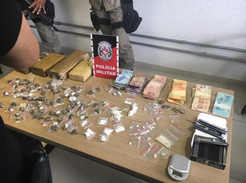 Polícia apreende carregamento de drogas superior a 4 kg que seria traficada na Capital