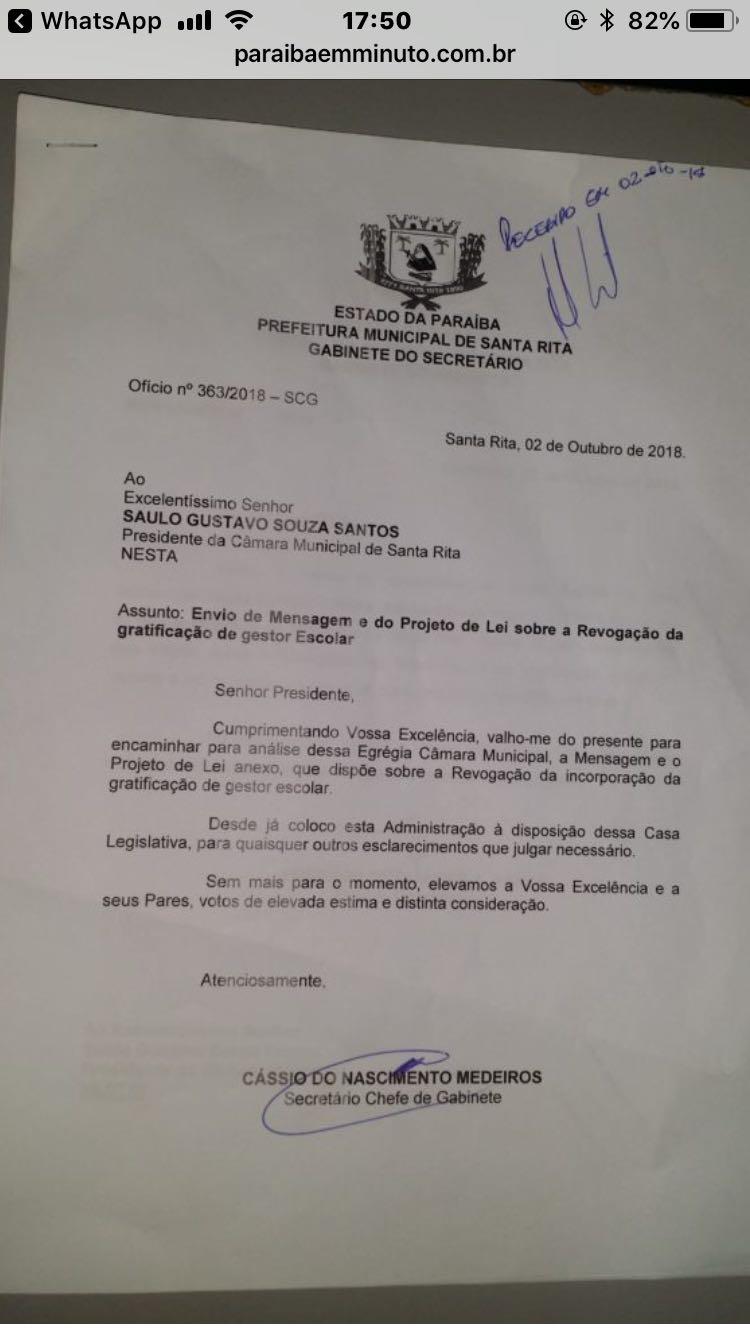 Na semana das eleições, Panta propõe cortar gratificações de servidores da educação