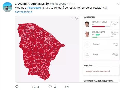 #MeuNordeste: eleitores usam redes sociais para enaltecer região e defendem até separação do país