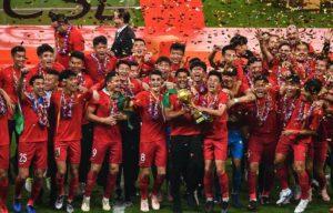 Time de jogador paraibano vence e fatura Campeonato Chinês pela primeira vez