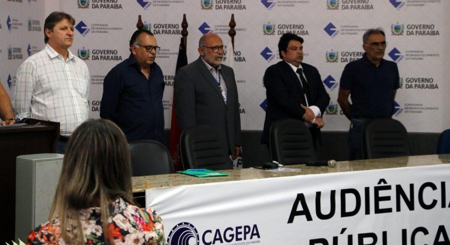 Em audiência pública, Cagepa propõe reajuste de 4% na conta de água