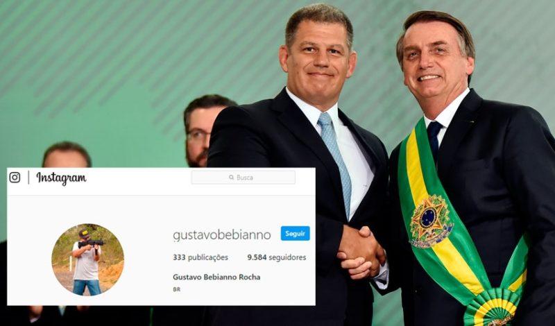Bebianno troca foto de perfil com Bolsonaro por metralhadora em rede social