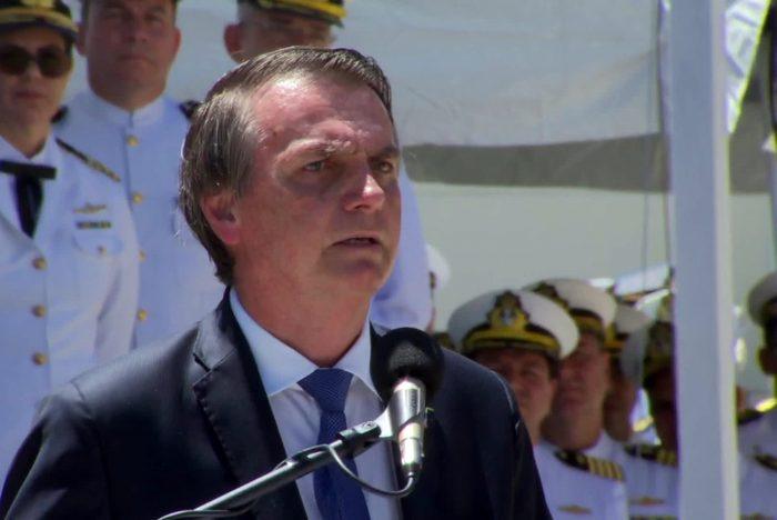 Em evento com fuzileiros, Bolsonaro pede 'sacrifício' a militares na reforma da Previdência