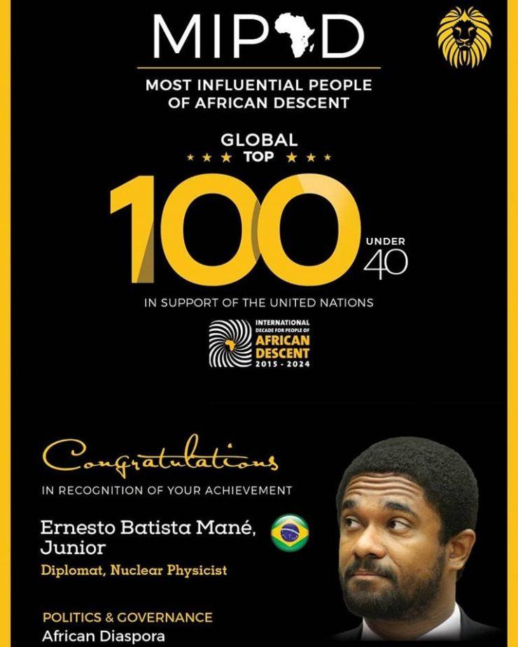 Paraibano de apenas 36 anos é um dos negros mais influentes do mundo