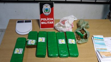 Após denúncia, polícia prende suspeita de tráfico com 5 kg de drogas