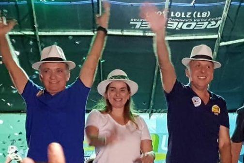 Aguinaldo e Daniella Ribeiro parabenizam São bento pelo 60º aniversário