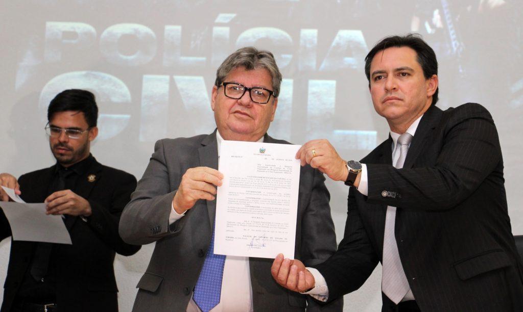 João garante autonomia financeira da Polícia Civil e cria novas delegacias