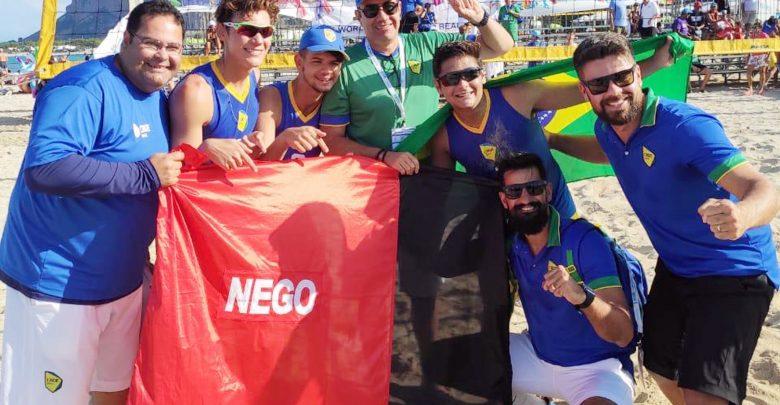 Dupla paraibana se sagra campeã do Mundial Escolar de Vôlei de Praia