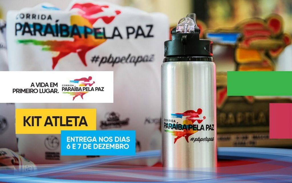 Kits da primeira Corrida Paraíba pela Paz serão entregues até este sábado