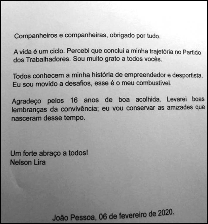 Cotado para concorrer à PMJP, ex-presidente do Botafogo-PB deixa o PT