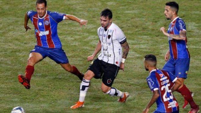 Com erros da arbitragem, Botafogo-PB perde para o Bahia e é eliminado da Copa do Nordeste