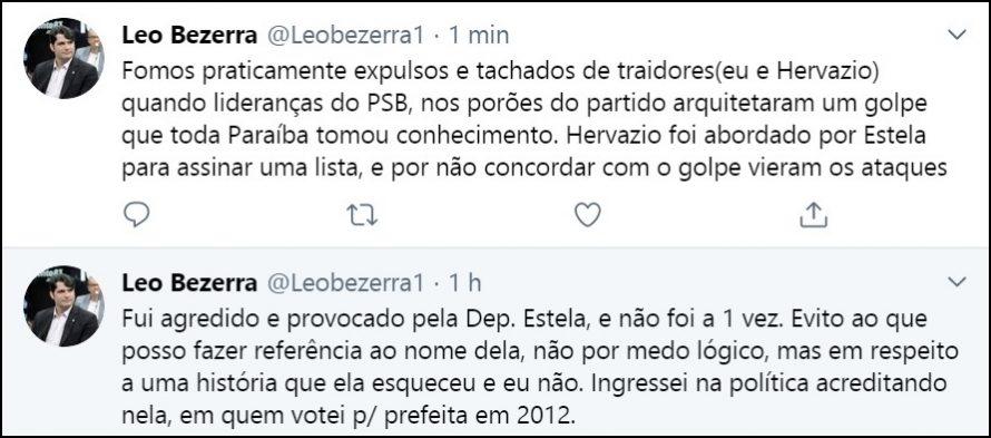 """Vereador Leo Bezerra rebate Estela e lembra """"golpe"""" no Diretório do PSB"""