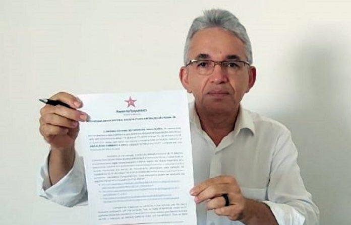 PT nacional oficializa junto à Justiça Eleitoral indicação do vice de RC