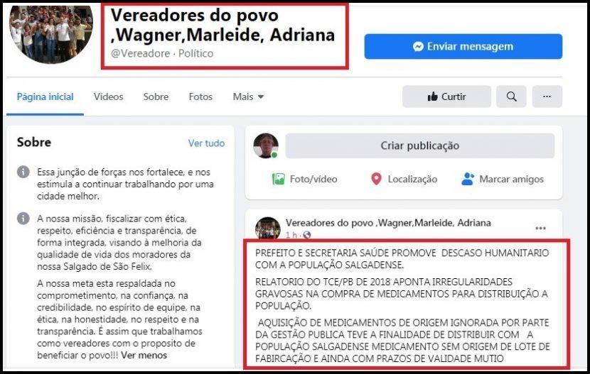 Relatório do TCE-PB põe Prefeitura de Salgado de São Félix sob suspeita
