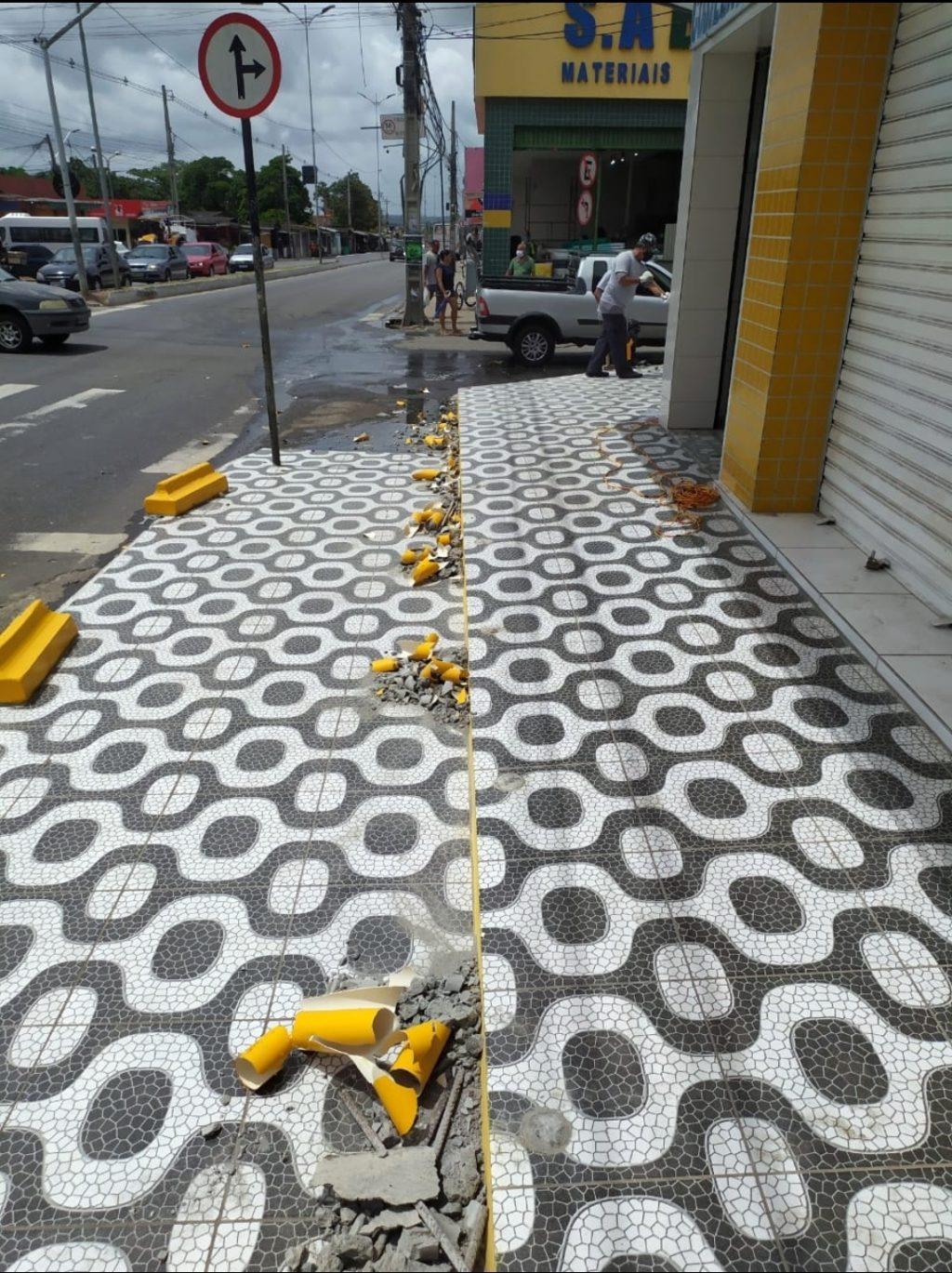 Prefeitura inicia por Cruz das Armas a desobstrução das calçadas de JP